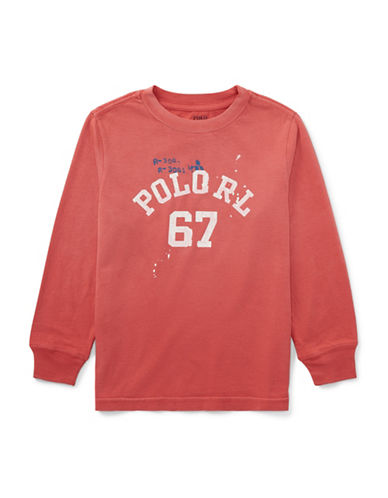 Ralph Lauren Childrenswear Graphic Cotton Tee-RED-3T
