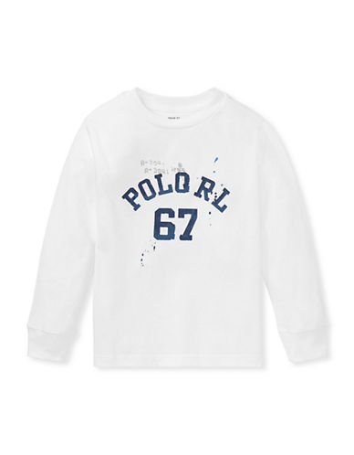 Ralph Lauren Childrenswear Graphic Cotton Tee-WHITE-3T