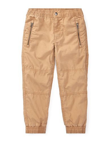 Ralph Lauren Childrenswear Elasticized Cotton Joggers-TAN-2T