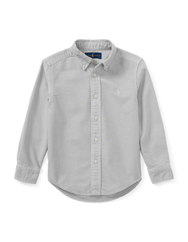 Ralph Lauren Childrenswear Cotton Oxford  Sport Shirt-GREY-4T