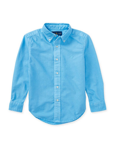 Ralph Lauren Childrenswear Cotton Oxford  Sport Shirt-BLUE-4T