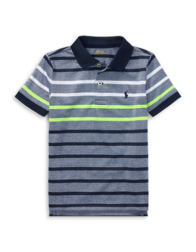 Ralph Lauren Childrenswear Stripe Performance Stretch Polo-BLUE-4T