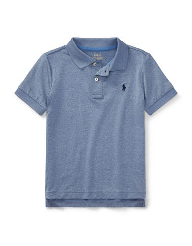 Ralph Lauren Childrenswear Performance Stretch Lisle Polo-BLUE-6