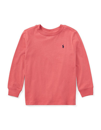 Ralph Lauren Childrenswear Logo Cotton T-Shirt-RED-5
