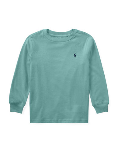Ralph Lauren Childrenswear Logo Cotton T-Shirt-GREEN-5