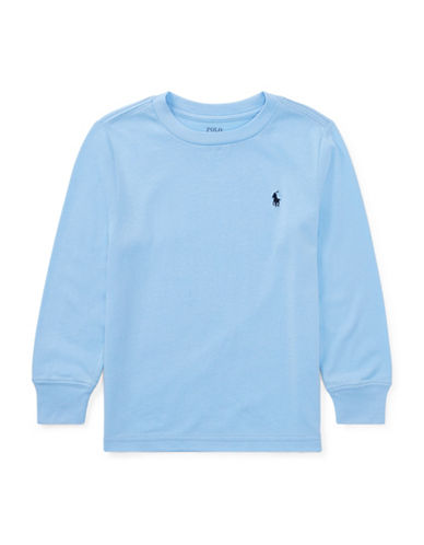 Ralph Lauren Childrenswear Logo Cotton T-Shirt-BLUE-7