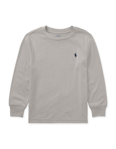 Ralph Lauren Childrenswear Logo Cotton T-Shirt-GREY-6