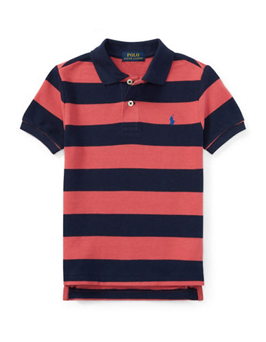 Ralph Lauren Childrenswear Chambray Cotton Polo-RED-7