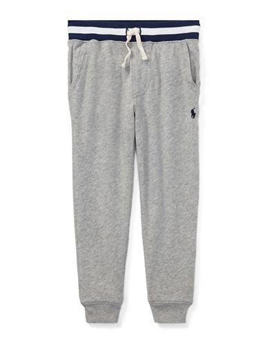 Ralph Lauren Childrenswear Performance Cotton Jogger Pants-GREY-6 89700515_GREY_6