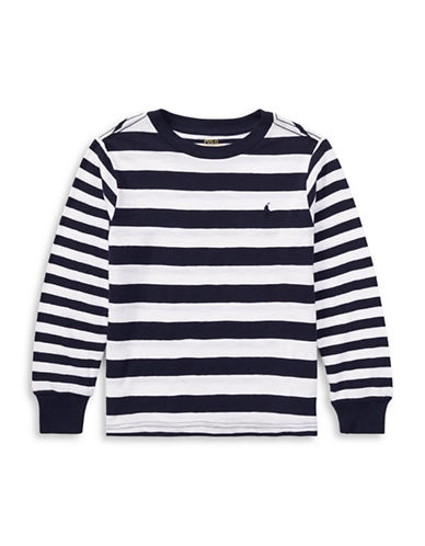 Ralph Lauren Childrenswear Long Sleeve Crew Neck Tee-WHITE-6