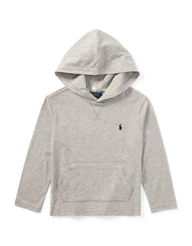 Ralph Lauren Childrenswear Jersey Cotton Hooded T-Shirt-GREY-6