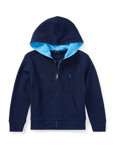 Ralph Lauren Childrenswear Full-Zip Cotton Hoodie-BLUE-6
