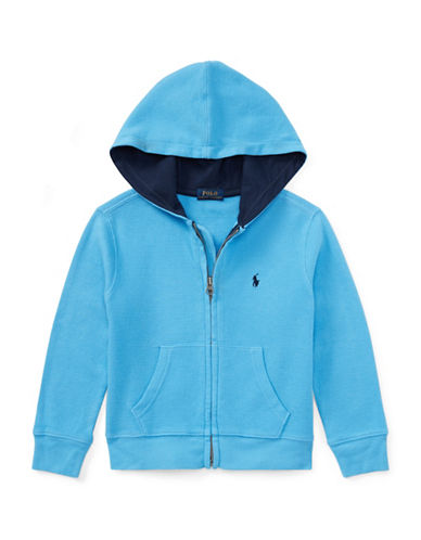 Ralph Lauren Childrenswear Full-Zip Cotton Hoodie-BLUE-5