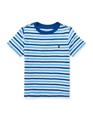 Ralph Lauren Childrenswear Jersey Cotton Stripe T-Shirt-BLUE-7