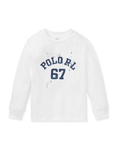 Ralph Lauren Childrenswear Vintage Graphic Long Sleeve T-Shirt-WHITE-6