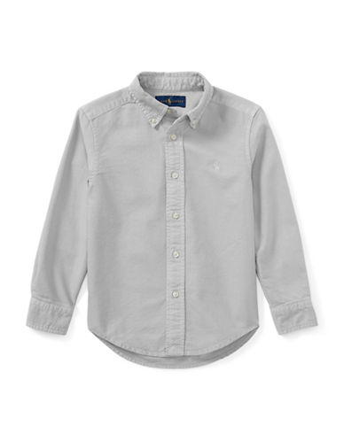 Ralph Lauren Childrenswear Cotton Oxford Shirt-GREY-7