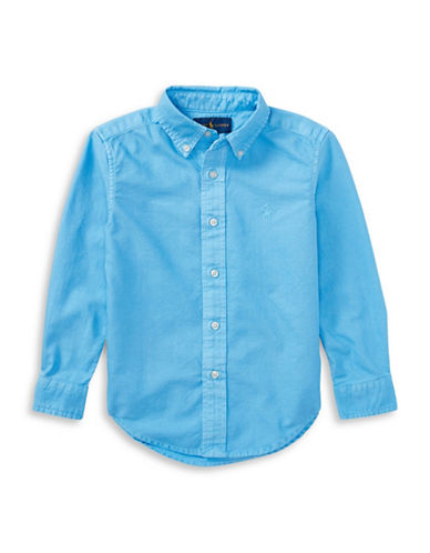 Ralph Lauren Childrenswear Cotton Oxford Shirt-BLUE-5