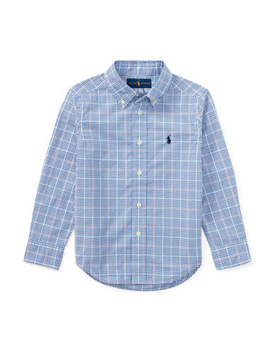 Ralph Lauren Childrenswear Plaid Cotton Sport  Shirt-BLUE-5