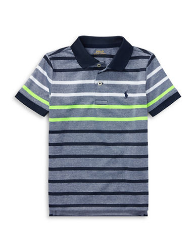Ralph Lauren Childrenswear Performance Stretch Lisle Polo-BLUE-7