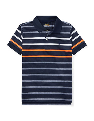 Ralph Lauren Childrenswear Performance Stretch Lisle Polo-NAVY-6