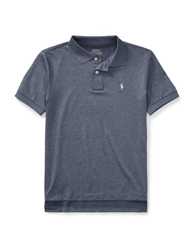 Ralph Lauren Childrenswear Lisle Polo Shirt-BLUE-12-14