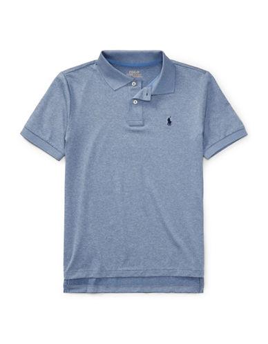Ralph Lauren Childrenswear Lisle Polo Shirt-BLUE-16-18