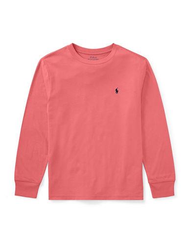 Ralph Lauren Childrenswear Cotton Jersey T-Shirt-RED-16-18
