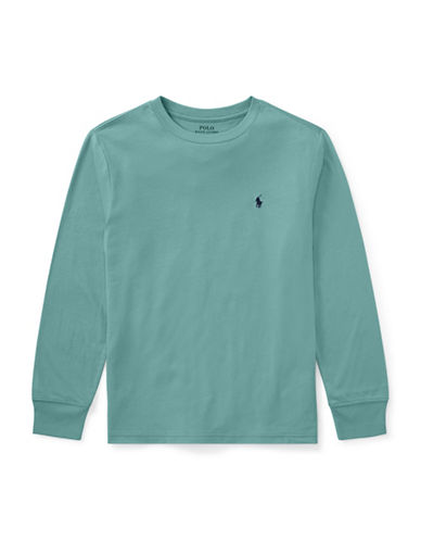 Ralph Lauren Childrenswear Cotton Jersey T-Shirt-GREEN-10-12