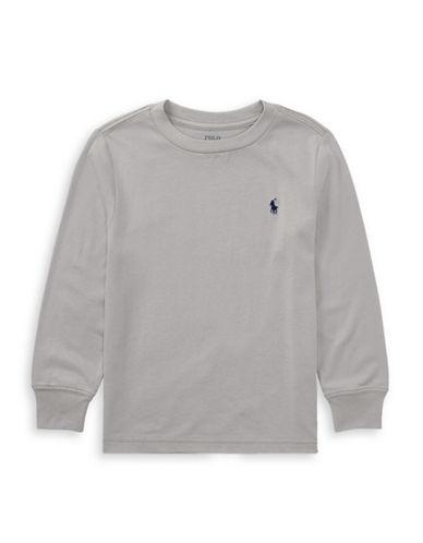 Ralph Lauren Childrenswear Cotton Jersey T-Shirt-GREY-10-12