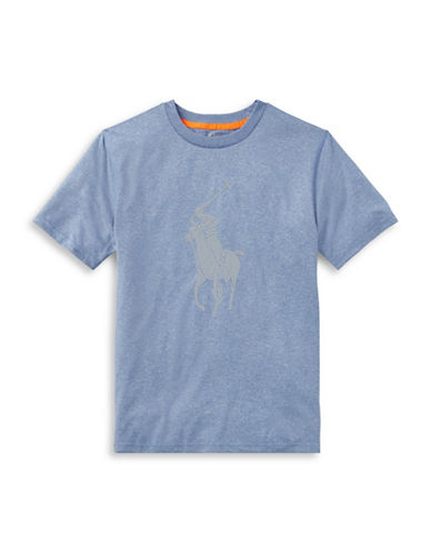 Ralph Lauren Childrenswear Performance Jersey Tee-BLUE-12-14