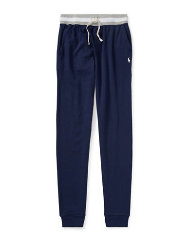 Ralph Lauren Childrenswear Cotton Spa Terry Pull-On Pant-NAVY-10-12