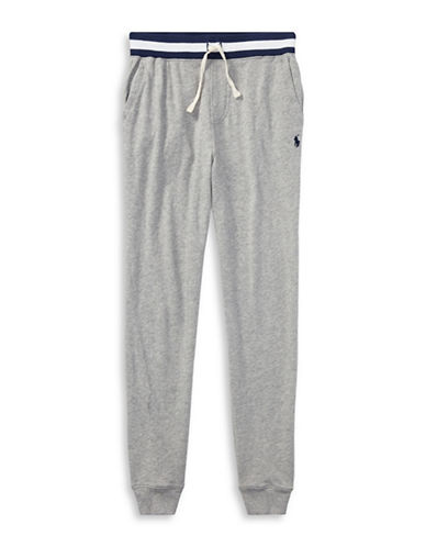 Ralph Lauren Childrenswear Cotton Spa Terry Pull-On Pant-GREY-10-12