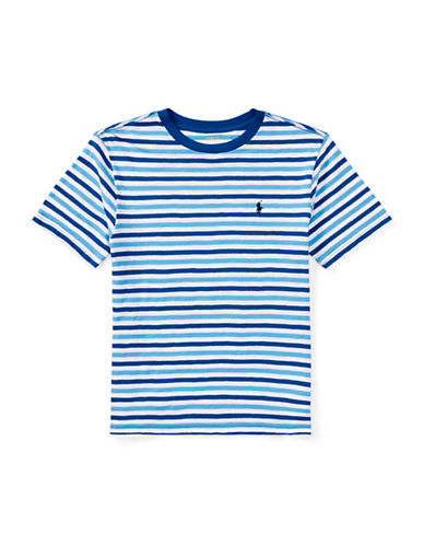Ralph Lauren Childrenswear Stripe Cotton Jersey T-Shirt-BLUE-10-12