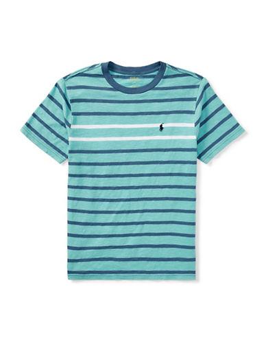 Ralph Lauren Childrenswear Jersey Cotton Striped T-Shirt-GREEN-10-12
