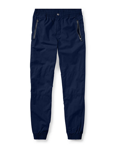 Ralph Lauren Childrenswear Cotton Poplin Joggers-BLUE-12-14