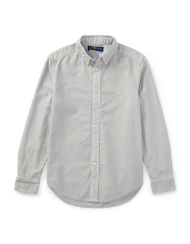 Ralph Lauren Childrenswear Cotton Oxford Sport Shirt-GREY-8
