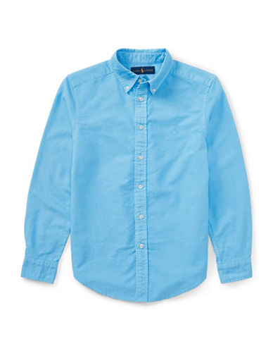 Ralph Lauren Childrenswear Cotton Oxford Sport Shirt-BLUE-10-12