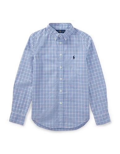 Ralph Lauren Childrenswear Grid Cotton Sport Shirt-BLUE-16-18