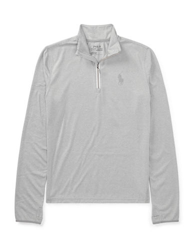 Ralph Lauren Childrenswear Stretch Jersey Pullover-GREY-12-14