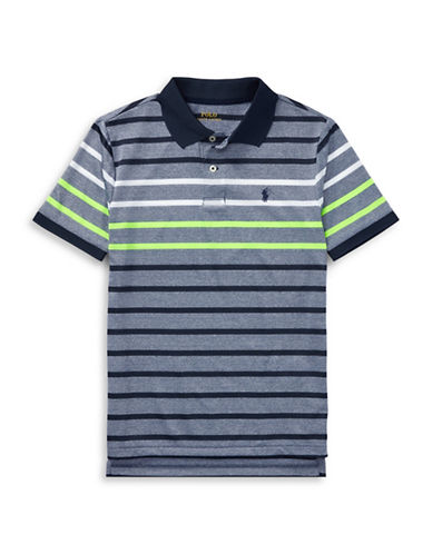 Ralph Lauren Childrenswear Performance Stretch Lisle Polo-BLUE-16-18