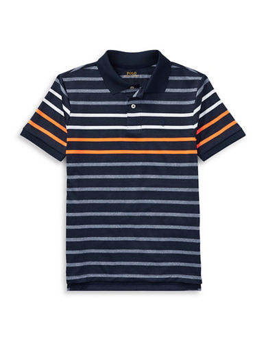 Ralph Lauren Childrenswear Performance Stretch Lisle Polo-BLUE-10-12