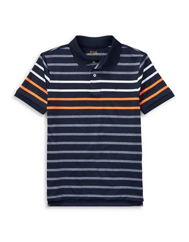 Ralph Lauren Childrenswear Performance Stretch Lisle Polo-BLUE-10-12