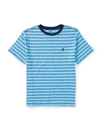 Ralph Lauren Childrenswear Jersey Cotton Stripe T-Shirt-BLUE-16-18