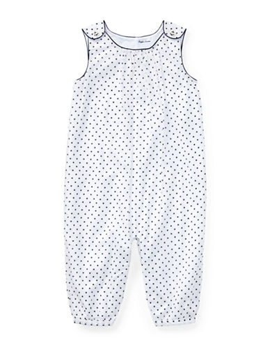Ralph Lauren Childrenswear Polka-Dot Cotton Coverall-WHITE-9 Months