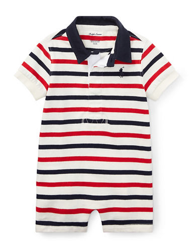 Ralph Lauren Childrenswear Striped Cotton Rugby Shortall-NATURAL-18 Months
