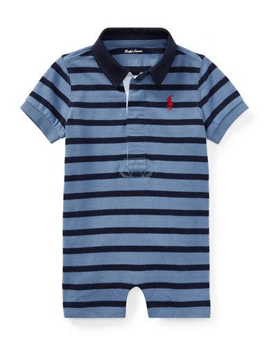 Ralph Lauren Childrenswear Striped Cotton Rugby Shortall-BLUE-12 Months