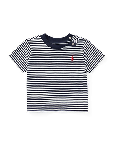 Ralph Lauren Childrenswear Striped Cotton Jersey Tee-NATURAL-24 Months