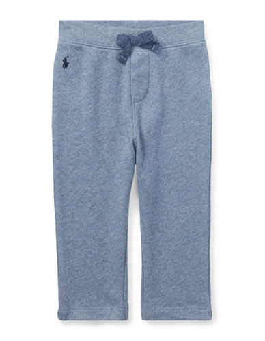 Ralph Lauren Childrenswear Cotton Spa Terry Pull-On Pant-LIGHT BLUE-12 Months