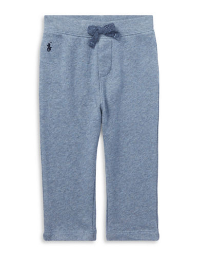 Ralph Lauren Childrenswear Cotton Spa Terry Pull-On Pant-BLUE-12 Months