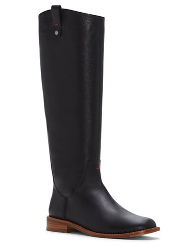 Ed Ellen Degeneres Zoila High Shaft Riding Boots-BLACK-8
